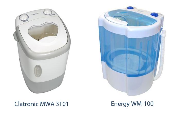 Портативные стиральные машины - 6. Стиральные машины малютки: Clatronic MWA 3101 и Energy WM-100.